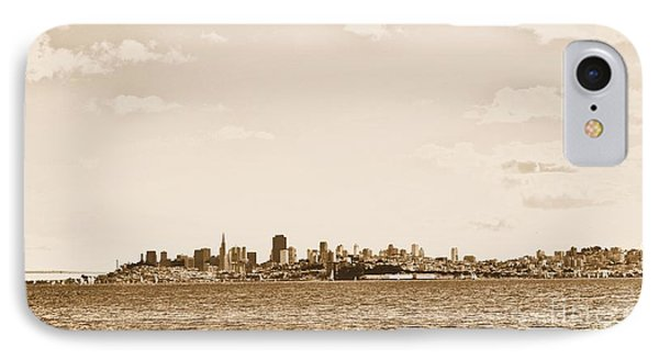 San Francisco In Sepia IPhone Case