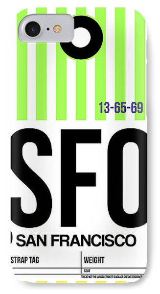 San Francisco Luggage Tag Poster 2 IPhone Case