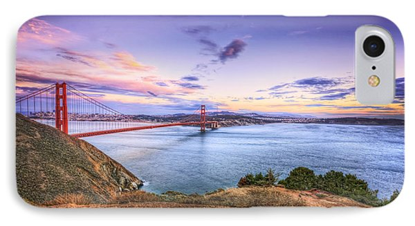 San Francisco Sunset And The Golden Gate Bridge From Marin Headlands 2 IPhone Case