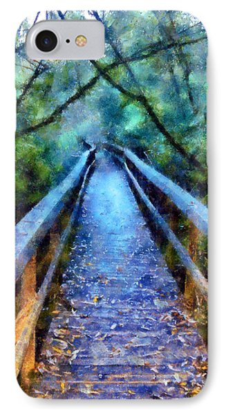 San Simeon Foot Bridge IPhone Case