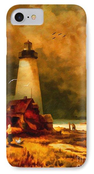Sandy Hook Lighthouse - After Moran IPhone Case