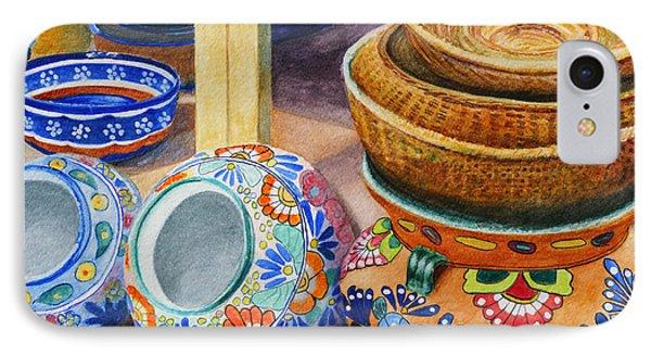 Santa Fe Hold 'em Pots And Baskets IPhone Case