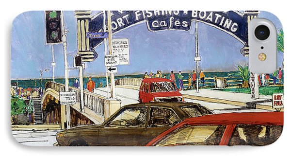 Santa Monica Pier Entrance IPhone Case