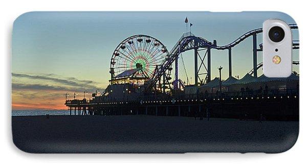 Santa Monica Pier Sunset IPhone Case