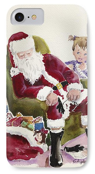 Waiting Up For Santa IPhone Case