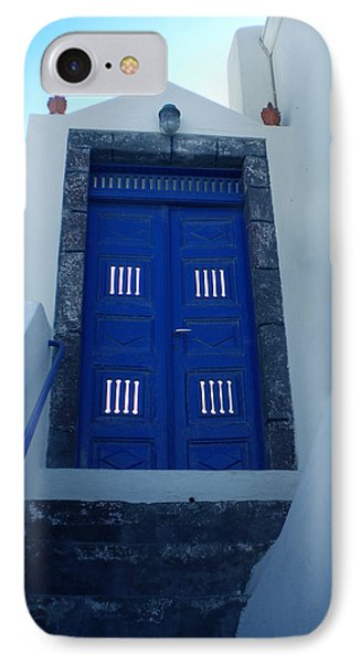 Santorini Door  To Heaven  IPhone Case