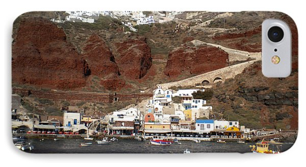 Santorini  Island  View To Oia Greece IPhone Case