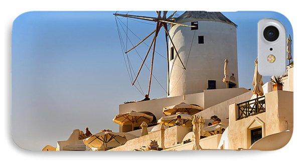 Santorini Windmill 05 IPhone Case