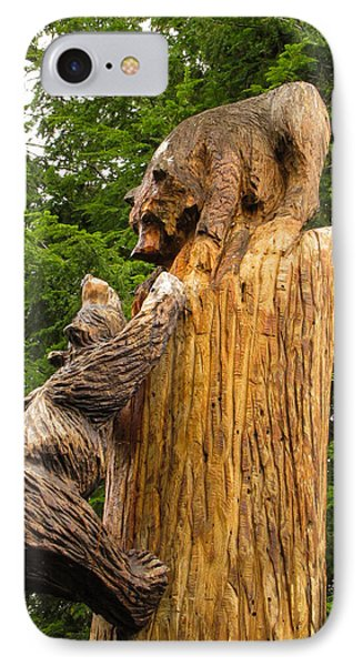 Saranac Wood Carving IPhone Case