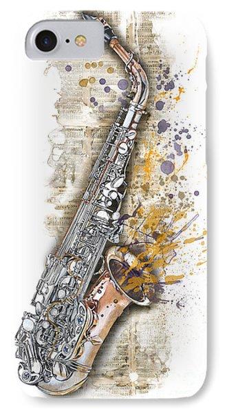 Saxophone 02 - Elena Yakubovich IPhone Case