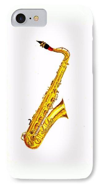 Saxophone iPhone 8 Case - Saxophone by Michael Vigliotti
