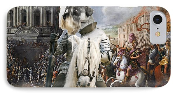 Schnauzer Art - A Siege The Sack Of Rome   IPhone Case