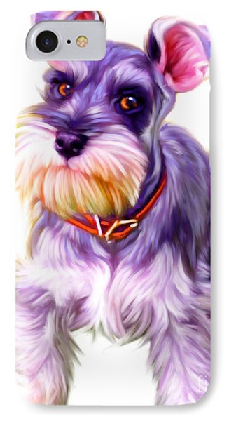 Schnauzer Dog Art IPhone Case