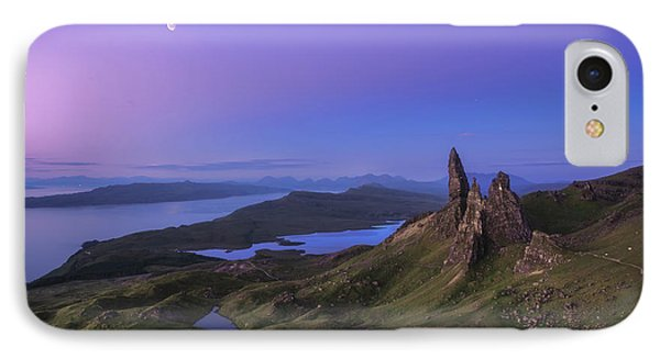 Scotland iPhone 8 Case - Scotland - Storr At Night by Jean Claude Castor