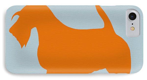 Dog iPhone 8 Case - Scottish Terrier Orange by Naxart Studio