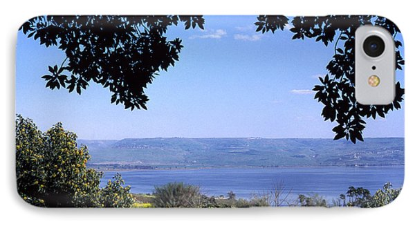 Mustard iPhone 8 Case - Sea Of Galilee From Mount Of The Beatitudes by Thomas R Fletcher