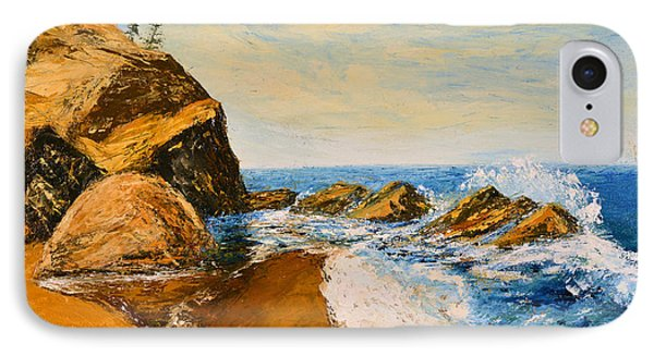Sea Scape - Trees On Cliff IPhone Case