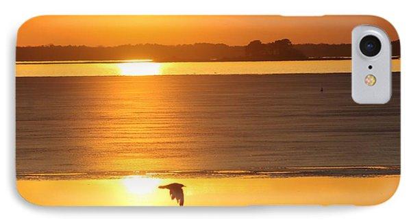 Seagull Through Sunset IPhone Case