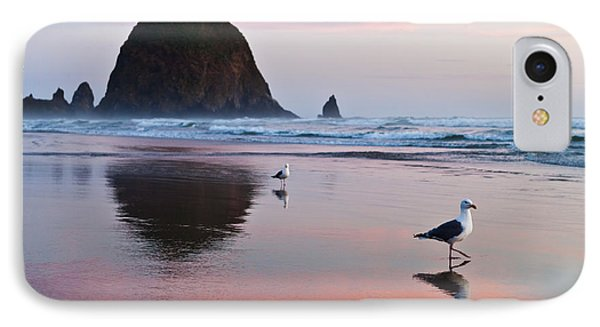 Seagulls And Haystack Rock IPhone Case