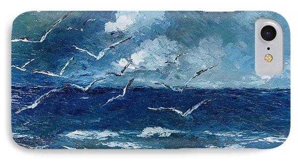 Seagulls Over Adriatic Sea IPhone Case