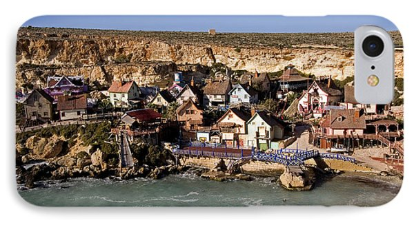Seaside Village Under The Cliffs IPhone Case