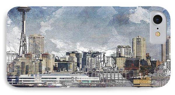 Seattle Skyline Freeform IPhone Case