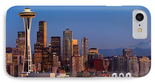 Seattle Winter Evening Panorama IPhone Case