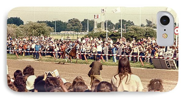 Secretariat Race Horse Coming Down To The Finish Line By Himself To Win The Big Race At Arlington R IPhone Case
