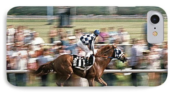 Secretariat Race Horse Winning At Arlington In 1973. IPhone Case
