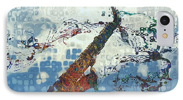 Saxophone iPhone 8 Case - See The Sound 2 by Jack Zulli