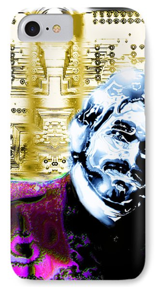 Self Portrait With Circuits IPhone Case