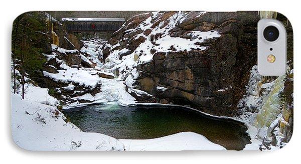 Sentinel Pine Bridge In Winter IPhone Case