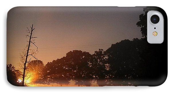 September Sunrise At Blue Horse IPhone Case
