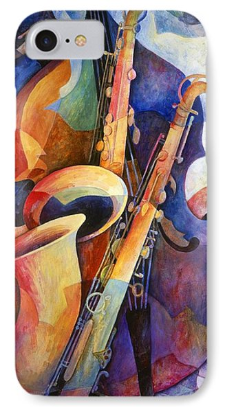 Saxophone iPhone 8 Case - Sexy Sax by Susanne Clark