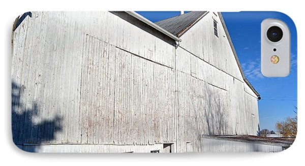 Shadow On White Barn IPhone Case