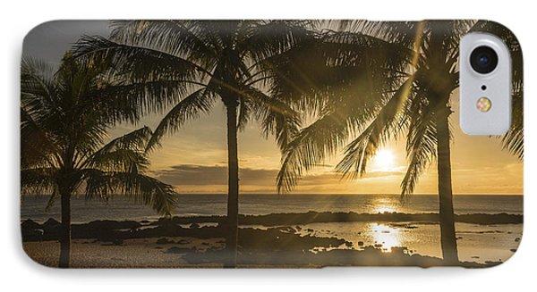 Sharks Cove Sunset 2 - Oahu Hawaii IPhone Case