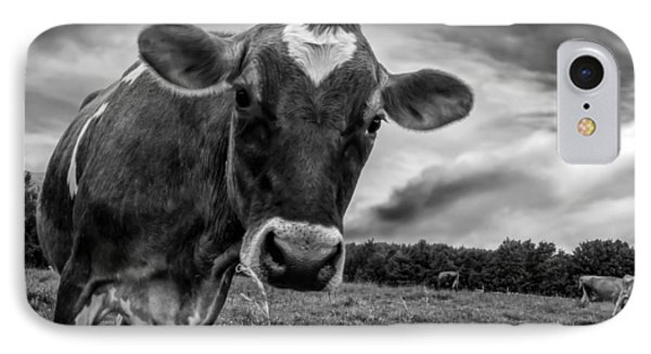 Cow iPhone 8 Case - She Wears Her Heart For All To See by Bob Orsillo