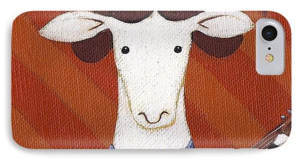 Sheep iPhone 8 Case - Sheep Guitar by Christy Beckwith