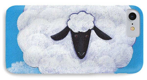 Sheep iPhone 8 Case - Sheep Nursery Art by Christy Beckwith
