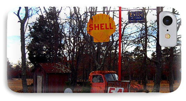Shell Gas Station And Out House IPhone Case