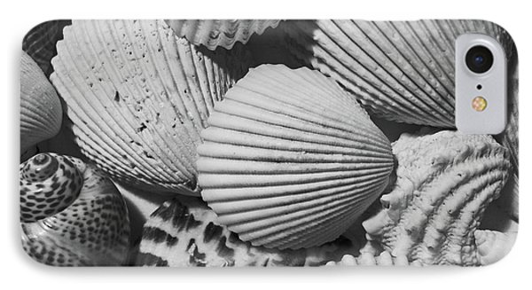 Shells In Black And White IPhone Case