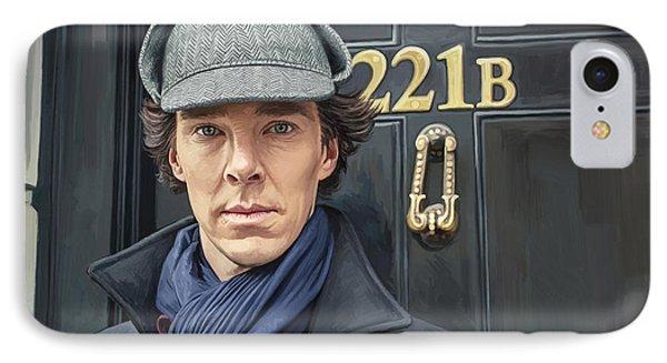 Sherlock Holmes Artwork IPhone Case