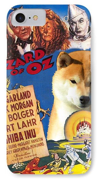 Shiba Inu Art Canvas Print - The Wizard Of Oz Movie Poster IPhone Case