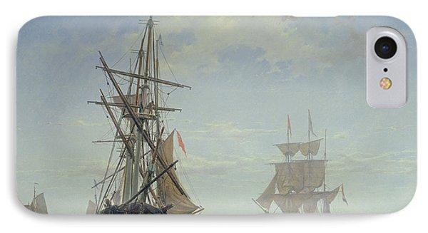 Ships In A Dutch Estuary IPhone Case