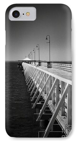 Shorncliffe Pier In Monochrome IPhone Case