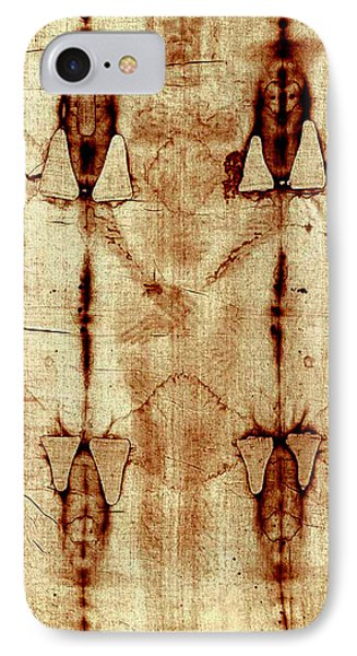 IPhone Case featuring the digital art Shroud Of Turin by A Samuel