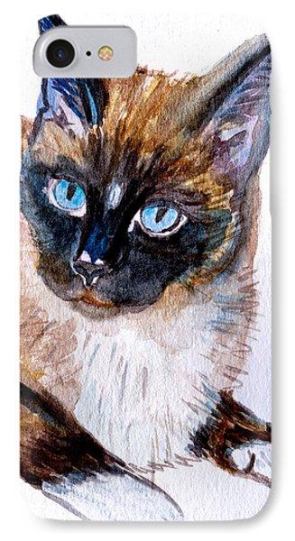 Siamese Cat Portrait IPhone Case