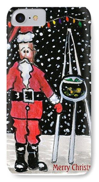Sidewalk Santa.card IPhone Case