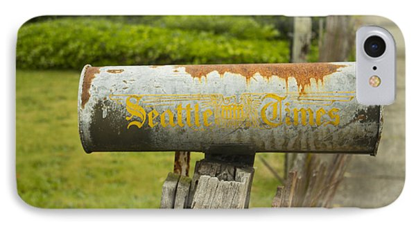 Sign Of The Times Seattle Times IPhone Case