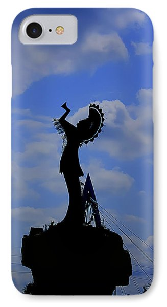 Silhouetted Keeper Of The Plains IPhone Case